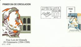 ESPAÑA , SOBRE PRIMER DIA  FRAY LUIS DE GRANADA - 1931-Hoy: 2ª República - ... Juan Carlos I