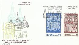 ESPAÑA , SOBRE PRIMER DIA  PATRIMONIO DE LA HUMANIDAD - 1931-Hoy: 2ª República - ... Juan Carlos I