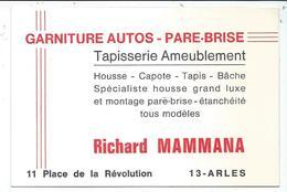 Arles Tapisserie Ameublement Place De La Revolution Richard Mammana 8x12 Cm - Cartes De Visite