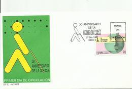 ESPAÑA , SOBRE PRIMER DIA  ANIVERSARIO ONCE - 1931-Hoy: 2ª República - ... Juan Carlos I