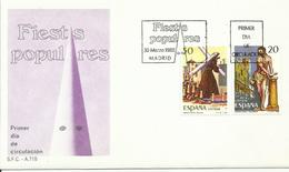ESPAÑA , SOBRE PRIMER DIA  FIESTAS POPULARES - 1931-Hoy: 2ª República - ... Juan Carlos I