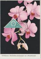 Pakistan Carte Maximum 1961 Fleurs Orchidées - Pakistan