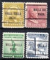 USA Precancel Vorausentwertung Preo, Locals Washington, Walla Walla 713, 4 Diff. - Vereinigte Staaten