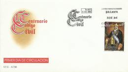 ESPAÑA , SOBRE PRIMER DIA  CENTENARIO  CODIGO CIVIL - 1931-Hoy: 2ª República - ... Juan Carlos I