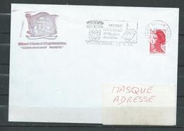 B.E.E. (ex A.E) Cdt RIVIERE Flamme TOULON NAVAL 22/11/88 - Marcophilie (Lettres)