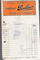 Blois (41 Loir Et Cher)  Facturette POULAIN  Chocolat  (PPP9534) - Food
