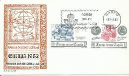 ESPAÑA , SOBRE PRIMER DIA  EUROPA 1982 - 1931-Hoy: 2ª República - ... Juan Carlos I