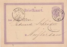 PAYS-BAS 1877 ENTIER POSTAL CARTE DE ARNHEIM - Postal Stationery