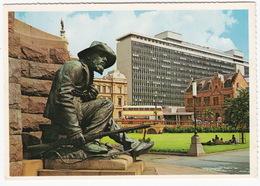 Pretoria: DOUBLE DECK BUS - Church Square - Paul Kruger Monument (bronze) - (South Africa) - Südafrika