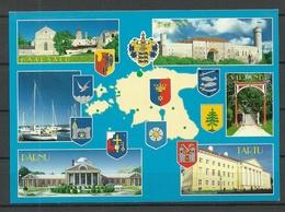 Estland Estonia Ansichtskarte Städtewappen Coat Of Arms Of The Cities Sauber Unbenutzt Unused - Estonia