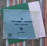 Ancienne Pochette CANSON Pour Buvard D'Ecole Avec 2 Buvards - Autres