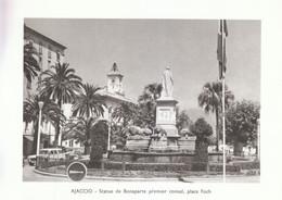 1970 - Héliogravure - Ajaccio (Corse) - La Statue De Bonaparte Place Foch - FRANCO DE PORT - Vieux Papiers