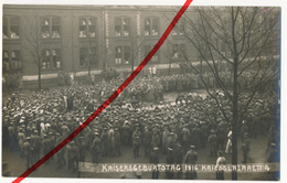 Original Foto - Brüssel Bruxelles - Kriegslazarett 4 - Lazarett Feier Kaisergeburtstag 27.1.1916 - Platzmusik - Santé, Hôpitaux