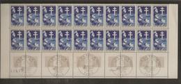 Bloc De 20 Timbres Anniversaire De La Victoire N°1532 (bord De Feuille, Oblitération 1er Jour Dans La Marge) - Unused Stamps