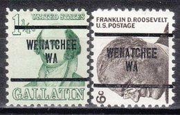 USA Precancel Vorausentwertung Preo, Locals Washington, Wenatchee 279, 2 Diff. - Vereinigte Staaten