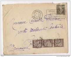 Lettre Bordeaux à Toulouse, Poste Restante Centrale, Affranchie à 40 Cts Et Taxée à 30 Cts - 1926 - Taxes