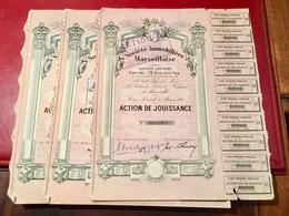 SOCIÉTÉ     IMMOBILIÈRE    MARSEILLAISE   ------- Lot  De  3  Actions  De  Jouissance - Industry