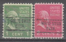 USA Precancel Vorausentwertung Preo, Locals Washington, White Swan 734, 2 Diff. - Etats-Unis