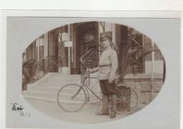 Carte-photo (1915) Vélo, Cyclisme, Militaire(?), Policier(?) Garde, Agent Municipal (?) - Ciclismo