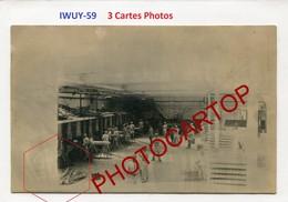 IWUY-Boulangerie Militaire-3x CARTES PHOTOS Allemandes-Guerre 14-18-1WK-France-59-Militaria- - Frankrijk