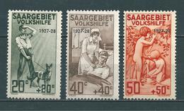Saar MiNr. 122-124 **  (sab39) - 1920-35 Société Des Nations