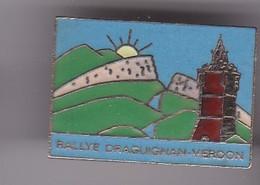 Pin's  RALLYE DRAGUIGNAN VERDON - Rallye