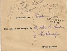 RETOUR ENVOYEUR 2790 PARTHENAY DEUX SEVRES PORT PAYE PP LEZAY - Marcofilie (Brieven)