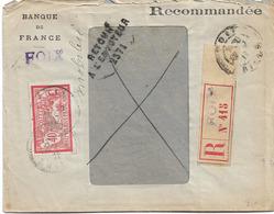 RETOUR ENVOYEUR 2371 MIREPOIX ARIEGE 1917 RECOMMANDE FOIX - 1877-1920: Semi Modern Period