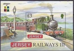 Jersey 2009 Yvertn° Bloc 94 *** MNH Cote 13 Euro Chemin De Fer Treinen IBRA Logo - Jersey