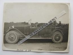 Olivet La Nivelle Loiret 1930 Voiture Auto De Dion Bouton Hommes Dans La Voiture Photo Originale Real Photo Snapshot - Automobile