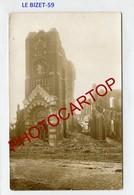 LE BIZET-Septembre 1918-CARTE PHOTO Allemande-Guerre 14-18-1WK-France-59-Militaria- - Other Municipalities