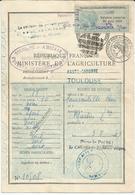 Permis De Chasse De 1950 + 1 Timbre - Fiscaux