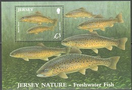 Jersey  2010 Yvertn° 108 Micheln° Bloc 89  *** MNH Cote 13 Euro Faune Poissons Vissen Fish - Jersey