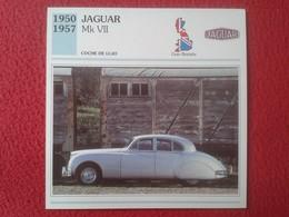 FICHA TÉCNICA DATA TECNICAL SHEET FICHE TECHNIQUE AUTO COCHE CAR VOITURE 1950 1957 JAGUAR MK VII GREAT BRITAIN CARS VER - Coches