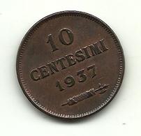 1937 - San Marino 10 Centesimi - San Marino