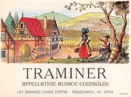 "0235 ""TRAMINER - APPELLATION D'ORIGINE CONTRÔLÉE - LES GRAND CAVES D'EPFIG"" ETICHETTA ORIG. - Etichette"