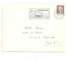 RHIN / Bas - Dépt N° 67 = STRASBOURG GARE 1962 =  FLAMME Non Codée = SECAP Illustrée ' MAISON De La RADIO' - Postmark Collection (Covers)