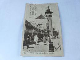 Tunis Rue Sidi Ben Ziad Et Mosquee Tunisia - Tunisia