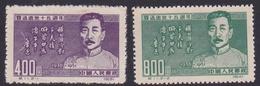 China People's Republic SG 1524-1525 1951 15th Death Anniversary Of Lu Hsun, Mint,reprint - 1949 - ... People's Republic