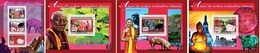 Guinea 2007, Chinese Year Of The Pig, Buddhism, 3val In BF +3BF - Astrologia