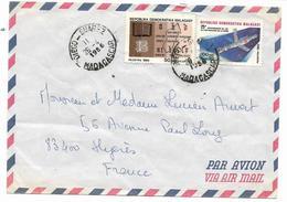 DIEGO SUAREZ   Beau Cachet 26-4-1986 Madagascar Sur Lettre PAR AVION Pour La FRANCE  VOIR 2 SCANS - Madagascar (1960-...)
