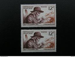1055x 2  FABRE  1956  NEUF**  TBE - Francia