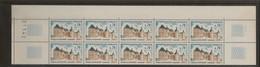 Bloc De 10 Timbres Chateau De Hautefort N°1596 (bord De Feuille) - Frankreich