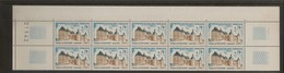 Bloc De 10 Timbres Chateau De Hautefort N°1596 (bord De Feuille) - Francia