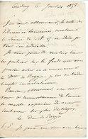 181. GOUVERNEUR DES INVALIDES NICOLAS CHARLES OUDINOT DUC DE REGGIO (BAR-LE-DUC 1791-1863). LAS DE COUDRAY 1858 - Autógrafos