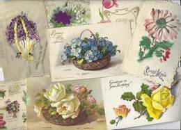 Lot 1471 De 10 CPA CPSM Fleurs Dont Klein Déstockage Pour Revendeurs Ou Collectionneurs - Postcards