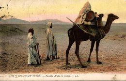 SCEENS ET TYPES FAMIULLE ARABE EN VOYAGE - Algeria