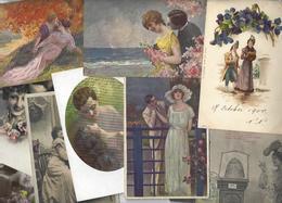 Lot 1472 De 10 CPA CPSM Couples Déstockage Pour Revendeurs Ou Collectionneurs - Postcards