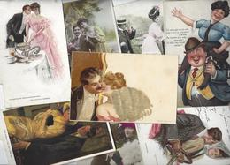 Lot 1473 De 10 CPA CPSM Couples Déstockage Pour Revendeurs Ou Collectionneurs - Postcards