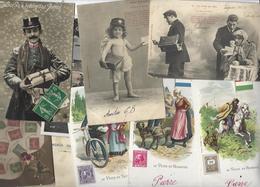 Lot 1474 De 10 CPA CPSM Postes Facteur Timbres Déstockage Pour Revendeurs Ou Collectionneurs - Postcards